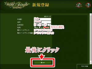 ワイルドジャングルカジノアカウント登録2