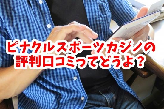 ピナクルスポーツカジノの評判を検索する男性の画像