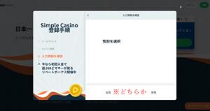 シンプルカジノ登録画面9